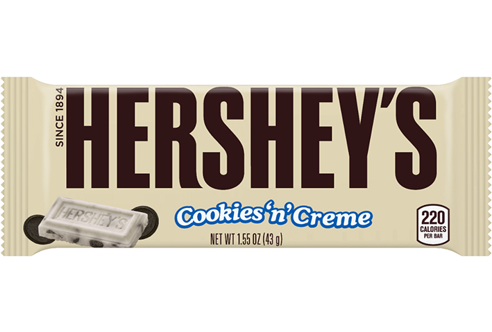 Hershey's cookies 'n' cream 1.55 oz (43 g)